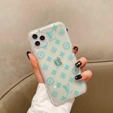 Load image into Gallery viewer, Louis Vuitton Style Clear Tempered Glass Protective Designer iPhone Case For iPhone SE 11 Pro Max X XS Max XR 7 8 Plus - Casememe.com