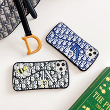 Load image into Gallery viewer, Christian Dior Style Classic Luxury Round Corner Glossy Shockproof Protective Designer iPhone Case For iPhone SE 11 Pro Max X XS Max XR 7 8 Plus - Casememe.com