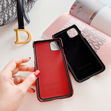 Load image into Gallery viewer, Dior Style Classic Fabric Cardholder Wallet Silicone Shockproof Protective Designer iPhone Case For iPhone 12 SE 11 Pro Max X XS Max XR 7 8 Plus - Casememe.com