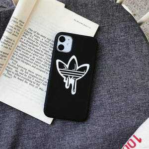 Adidas Style Silicone Protective Designer iPhone Case For iPhone 12 SE 11 Pro Max X XS Max XR 7 8 Plus - Casememe.com