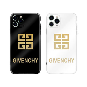 Givenchy Style Electroplating Glossy TPU Silicone Designer iPhone Case For iPhone 12 SE 11 Pro Max X XS XS Max XR 7 8 Plus - Casememe.com
