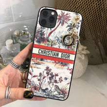 Load image into Gallery viewer, Christian Dior Style Palm Tree Shockproof Protective Designer iPhone Case For iPhone SE 11 Pro Max X XS Max XR 7 8 Plus - Casememe.com