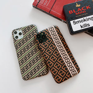 Fendi Style Luxury Silicone Shockproof Protective Designer iPhone Case For iPhone SE 11 Pro Max X XS Max XR 7 8 Plus - Casememe.com