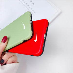 Nike Style Silicone Designer iPhone Case For iPhone 12 SE X XS XS Max XR 7 8 Plus - Casememe.com