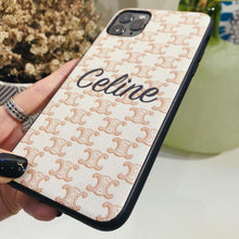Load image into Gallery viewer, Celine Style Classic Beige Leather Designer iPhone Case For iPhone 12 SE 11 Pro Max X XS Max XR 7 8 Plus - Casememe.com