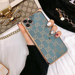 Gucci Style Classic Electroplating Shockproof Protective Designer iPhone Case For iPhone SE 11 Pro Max X XS Max XR 7 8 Plus - Casememe.com