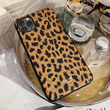 Load image into Gallery viewer, Celine Style Leopard Leather Designer iPhone Case For iPhone SE 11 Pro Max X XS Max XR 7 8 Plus - Casememe.com