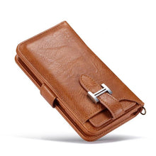 Load image into Gallery viewer, Hermes Style Luxury Retro Leather Phone Bag Magnetic Cases for iPhone  SE 11 PRO MAXX XS XR XSMax 7 8 Plus Multifunctional 2 in 1 Wallet Cover - Casememe.com