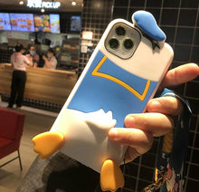 Load image into Gallery viewer, Disney Style Donald Duck Silicone Shockproof Protective Designer iPhone Case For iPhone 12 SE 11 Pro Max X XS Max XR 7 8 Plus - Casememe.com