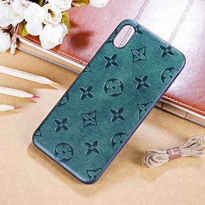 Gucci Style Green Leather Designer iPhone Case For iPhone SE 11 Pro Max X XS Max XR 7 8 Plus - Casememe.com