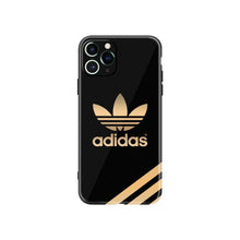 Load image into Gallery viewer, Adidas Style Electroplating Glossy TPU Silicone Designer iPhone Case For iPhone 12 SE 11 Pro Max X XS XS Max XR 7 8 Plus - Casememe.com