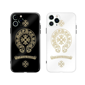 Chrome Hearts Style Electroplating Glossy TPU Silicone Designer iPhone Case For iPhone 12 SE 11 Pro Max X XS XS Max XR 7 8 Plus - Casememe.com