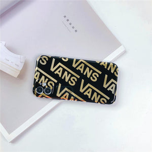 Vans Style Electroplating Glossy TPU Silicone Designer iPhone Case For iPhone 12 SE 11 Pro Max X XS XS Max XR 7 8 Plus - Casememe.com
