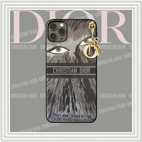 Christian Dior Style Luxury Eyes Shockproof Protective Designer iPhone Case For iPhone SE 11 Pro Max X XS Max XR 7 8 Plus - Casememe.com