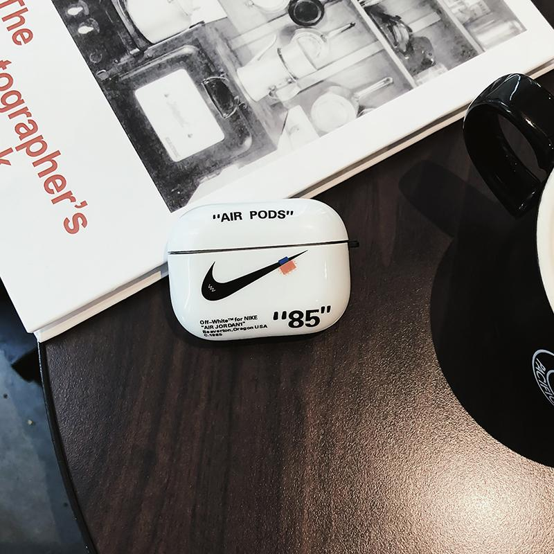 NIKE x Off White Style Glossy Silicone Protective Case For Apple Airpods Pro - Casememe.com