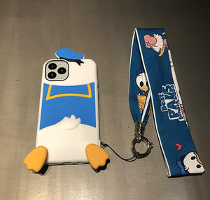 Disney Style Donald Duck Silicone Shockproof Protective Designer iPhone Case For iPhone 12 SE 11 Pro Max X XS Max XR 7 8 Plus - Casememe.com