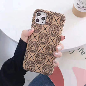 Versace Style Classic Silicone Shockproof Protective Designer iPhone Case For iPhone 12 SE 11 Pro Max X XS Max XR 7 8 Plus - Casememe.com