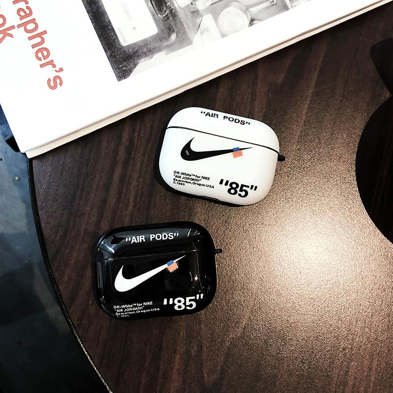 Nike X Off White Style Glossy Silicone Protective Case For Apple