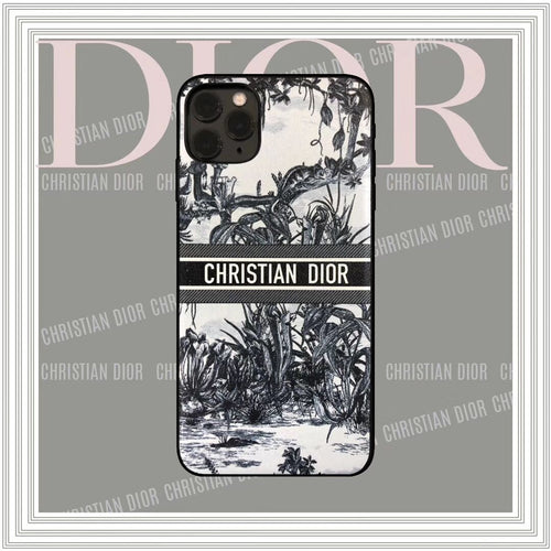 Christian Dior Style Black Shockproof Protective Designer iPhone Case For iPhone SE 11 Pro Max X XS Max XR 7 8 Plus - Casememe
