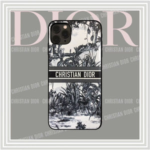 Christian Dior Style Black Shockproof Protective Designer iPhone Case For iPhone SE 11 Pro Max X XS Max XR 7 8 Plus - Casememe.com