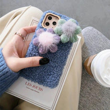 Load image into Gallery viewer, Cute Flower Furry Shockproof Protective Designer iPhone Case For iPhone 11 Pro Max X XS Max XR 7 8 Plus - Casememe.com