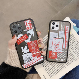 OFF WHITE Style Matte Silicone Shockproof Protective Designer iPhone Case For iPhone SE 11 Pro Max X XS Max XR 7 8 Plus - Casememe.com