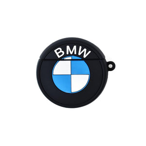 BMW Mercedes Benz Style Black Silicone Protective Shockproof Case For Apple Airpods 1 & 2 - Casememe.com