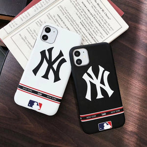 MLB Style Classic Glossy Shockproof Protective Designer iPhone Case For iPhone SE 11 Pro Max X XS Max XR 7 8 Plus - Casememe.com