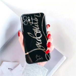 Christion Dior Style Electroplating Glossy TPU Silicone Designer iPhone Case For iPhone 12 SE 11 Pro Max X XS XS Max XR 7 8 Plus - Casememe.com