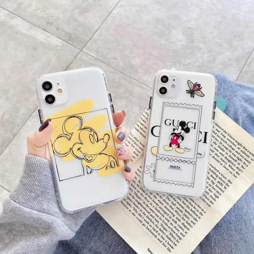 Mickey Mouse Style Clear Silicone Shockproof Protective Designer iPhone Case For iPhone SE 11 Pro Max X XS Max XR 7 8 Plus - Casememe.com