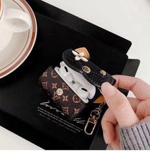 Load image into Gallery viewer, Louis Vuitton Style Mouse Leather Protective Case For Apple Airpods 1 & 2 & Pro - Casememe.com