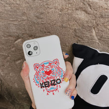 Load image into Gallery viewer, Kenzo Style Tiger Silicone Shockproof Protective Designer iPhone Case For iPhone 12 SE 11 Pro Max X XS Max XR 7 8 Plus - Casememe.com