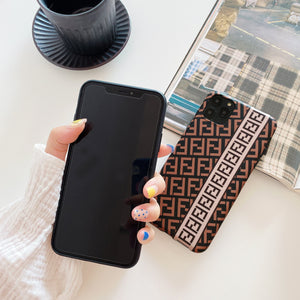 Fendi Style Luxury Silicone Shockproof Protective Designer iPhone Case For iPhone 12 SE 11 Pro Max X XS Max XR 7 8 Plus - Casememe.com