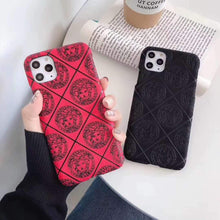 Load image into Gallery viewer, Versace Style Classic Silicone Shockproof Protective Designer iPhone Case For iPhone 12 SE 11 Pro Max X XS Max XR 7 8 Plus - Casememe.com