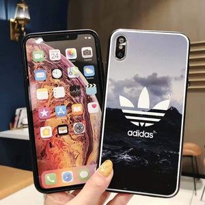 Adidas Style Original Matte Silicone Designer iPhone Case For iPhone SE 11 Pro Max X XS Max XR 7 8 Plus - Casememe.com