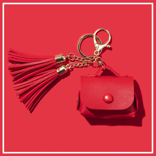 Leather Pouch Tassel Keychain Protective Case For Apple Airpods Pro - Casememe.com