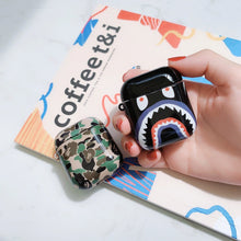 Load image into Gallery viewer, Bape Style Camo Glossy Hard Protective Shockproof Case For Apple Airpods 1 & 2 - Casememe.com