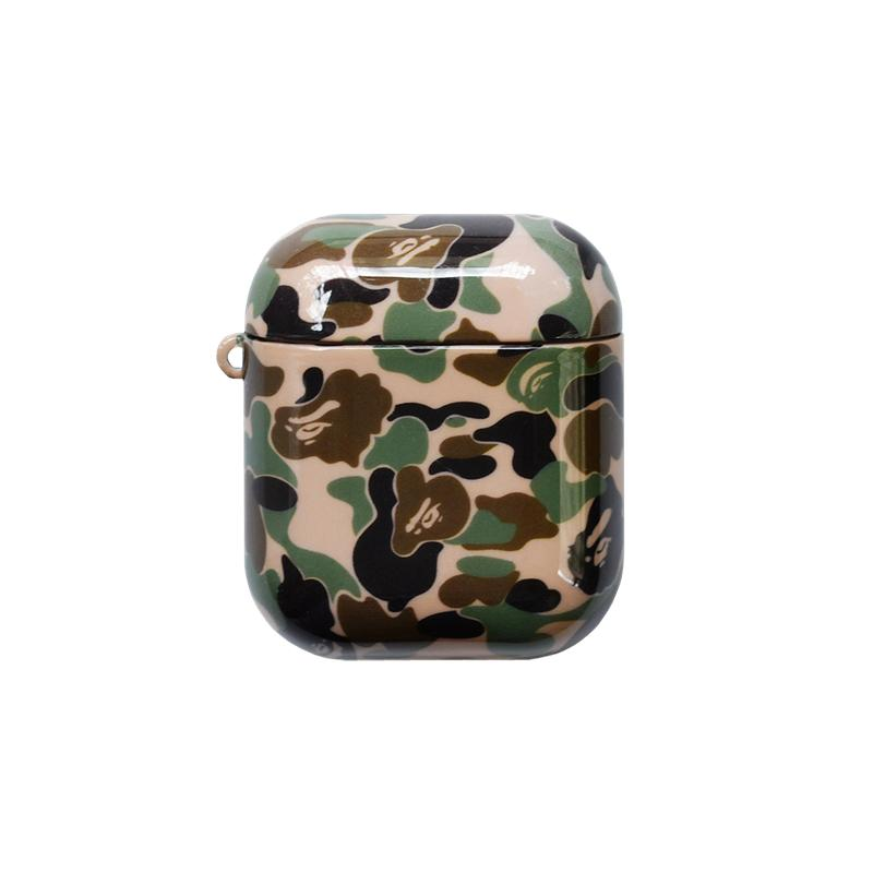 Bape Style Camo Glossy Hard Protective Shockproof Case For Apple Airpods 1 & 2 - Casememe.com