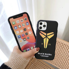 Load image into Gallery viewer, Manba Kobe Bryant TPU Silicone Shockproof Protective Designer iPhone Case For iPhone SE 11 Pro Max X XS Max XR 7 8 Plus - Casememe.com