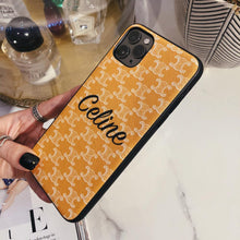 Load image into Gallery viewer, Celine Style Classic Yellow Leather Designer iPhone Case For iPhone 12 SE 11 Pro Max X XS Max XR 7 8 Plus - Casememe.com