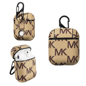 Michael Kors Style Leather Protective Shockproof Case For Apple Airpods 1 & 2 - Casememe.com