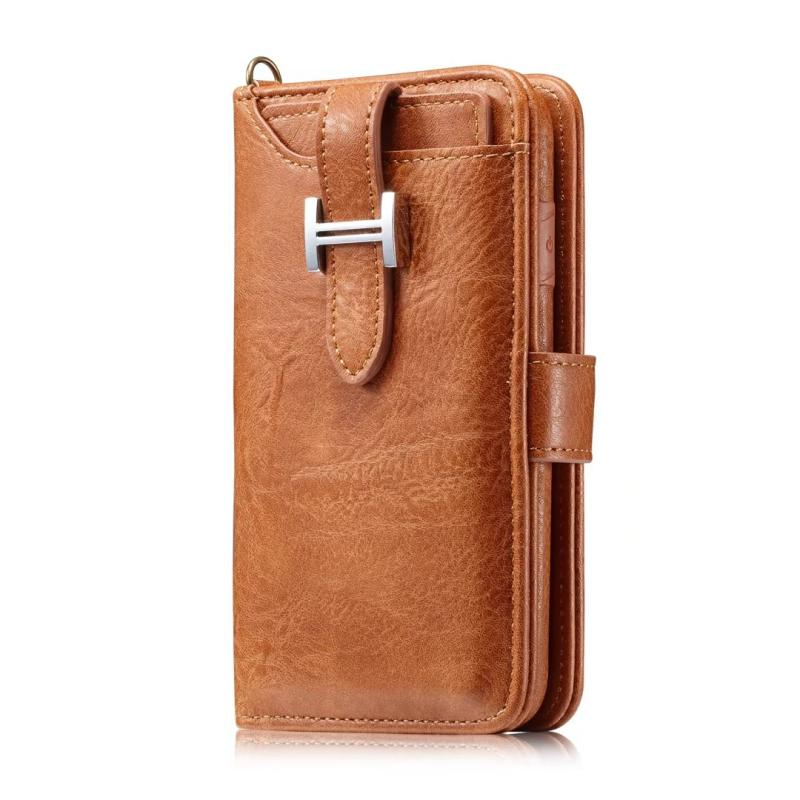sports shoes 1769e 9fc9a Hermes Style Luxury Retro Leather Phone Bag Magnetic Cases for iPhone X XS  XR XSMax 7 8 Plus Multifunctional 2 in 1 Wallet Cover