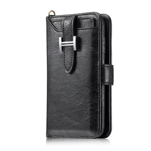 Hermes Style Luxury Retro Leather Phone Bag Magnetic Cases for iPhone X XS XR XSMax 7 8 Plus Multifunctional 2 in 1 Wallet Cover - Casememe.com
