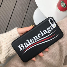 Load image into Gallery viewer, Balenciaga Stylish Sports Soft Silicone Curved Logo iPhone Case For iPhone SE 11 PRO MAX X / XS / XS Max / XR - Casememe.com