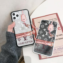 Load image into Gallery viewer, Louis Vuitton Style Tempered Glass Shockproof Protective Designer iPhone Case For iPhone SE 11 Pro Max X XS Max XR 7 8 Plus - Casememe.com