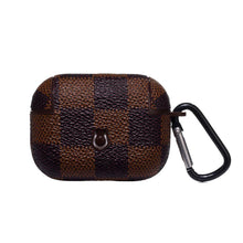 Load image into Gallery viewer, Damier Brown Luxury Leather Protective Case For Apple Airpods Pro - Casememe.com