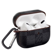Load image into Gallery viewer, Black Damier Leather Classic Protective Case For Apple Airpods Pro - Casememe.com