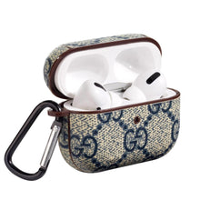 Load image into Gallery viewer, GC Style Leather Navy Protective Case For Apple Airpods Pro - Casememe.com