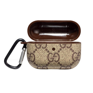 GC Style Classic Brown Leather Protective Case For Apple Airpods Pro - Casememe.com