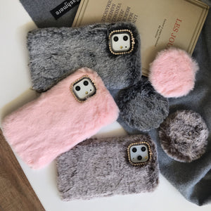 Furry Luxury Diamond Winter Shockproof Protective Designer iPhone Case For iPhone 11 Pro Max X XS Max XR 7 8 Plus - Casememe.com